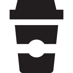 Vector cafe take away. Coffee takeaway icon glyph