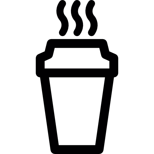 Vector cafe take away. Hot coffee in a