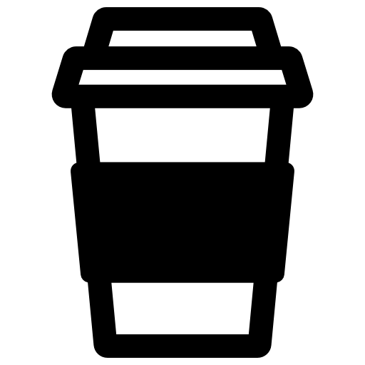 Vector cafe take away. Coffee free food icons