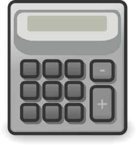 Vector calcualtor yellow. Collection of free calculator