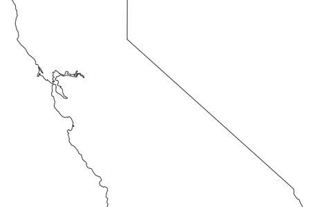 Vector california stencil. State map outline k