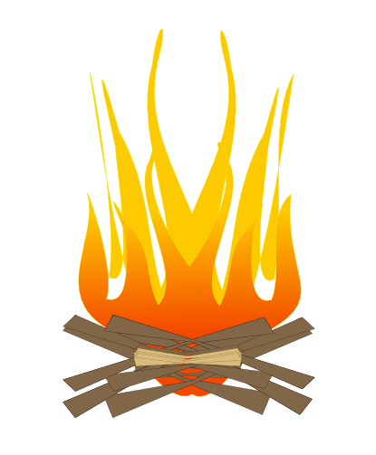 Vector campfire cute. Free bonfire cliparts download