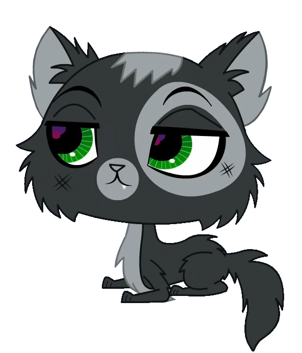 Vector pict cat. Lps stray black and
