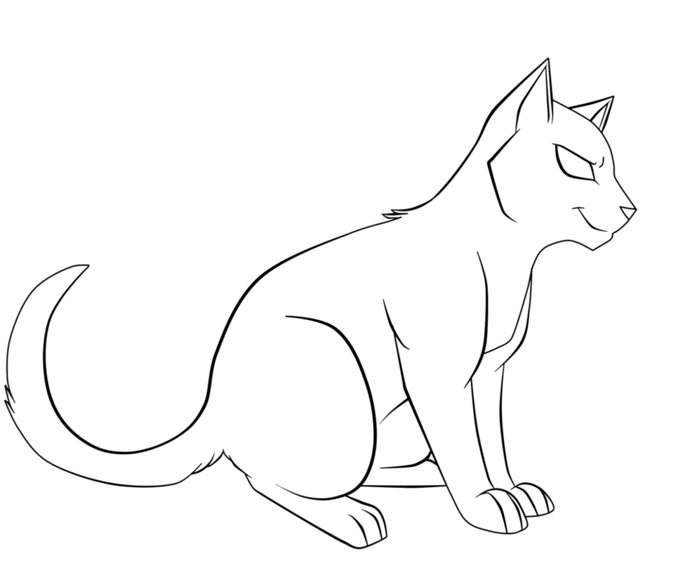 Vector cats lineart. Sturdy cat by drakynwyrm