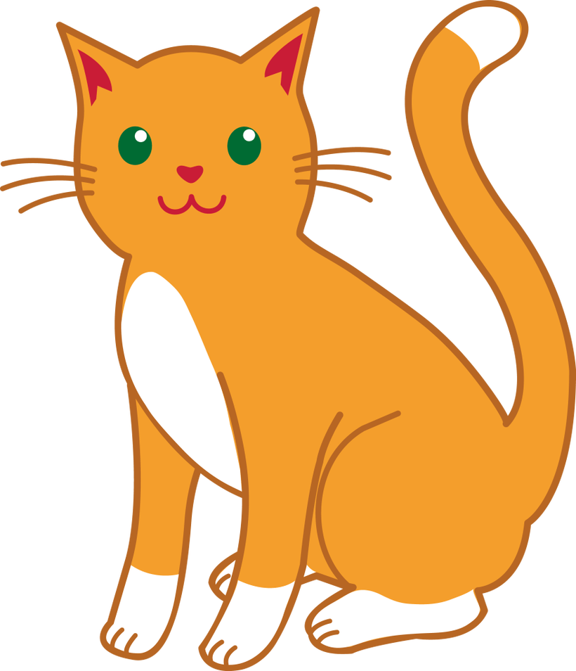 Orange jpg royalty free. Vector cats tabby cat image library stock