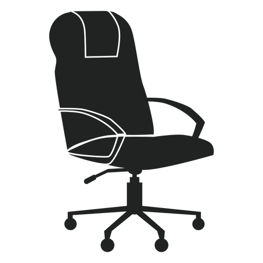 Leather office flat icon. Vector chair banner library