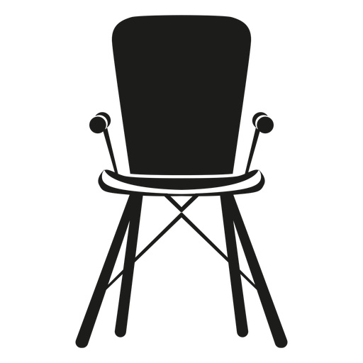 High flat icon transparent. Vector chair banner freeuse stock