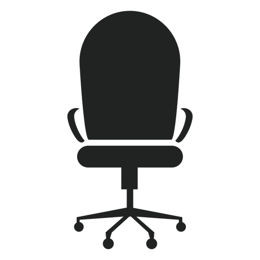 Vector chair back. Round office icon transparent
