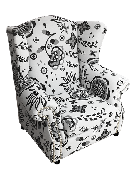 Vector furniture classic. Flowers mperzera chair