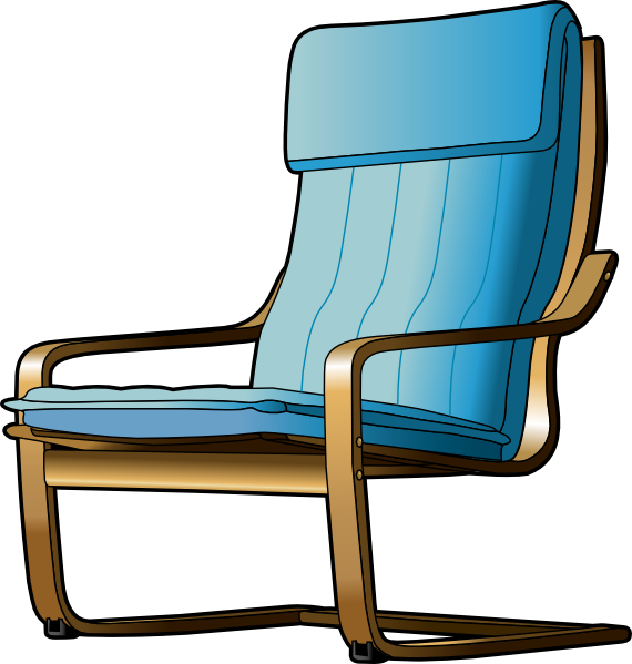 Vector chair cartoon. Free chairs download clip