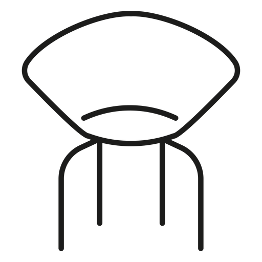 Vector chair designer. Stroke icon transparent png
