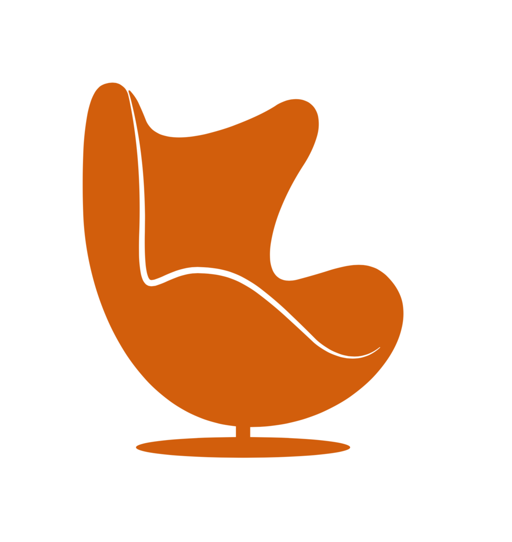 Vector chair egg. Authentic models casson living