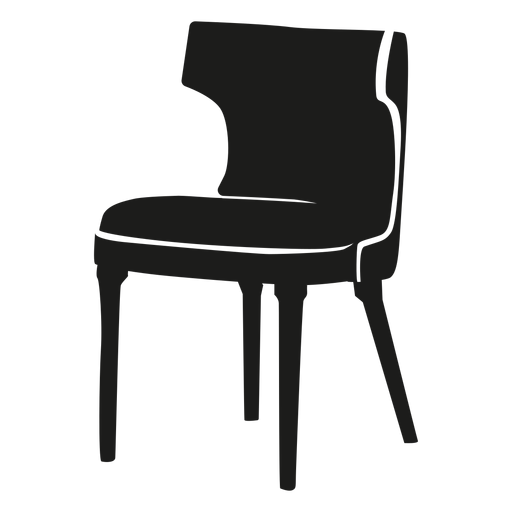 Vector wheat curved. Back chair flat icon