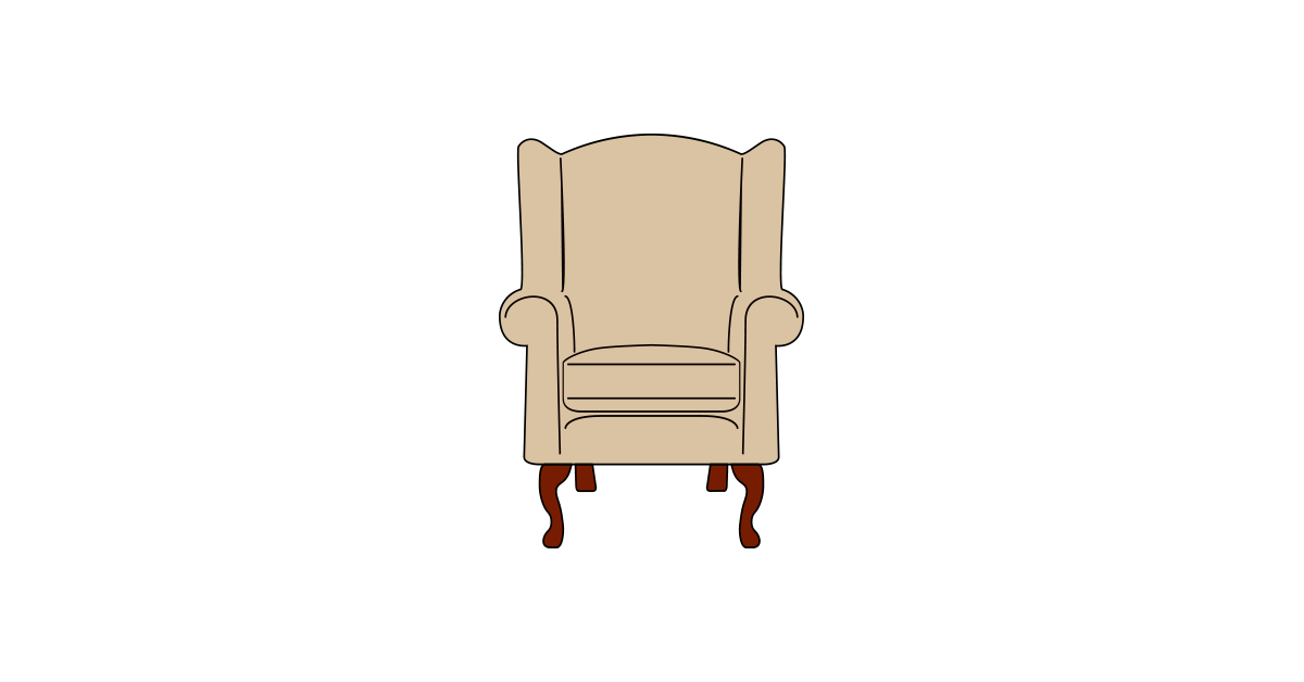 Vector chair kids. Armchair clipart and png