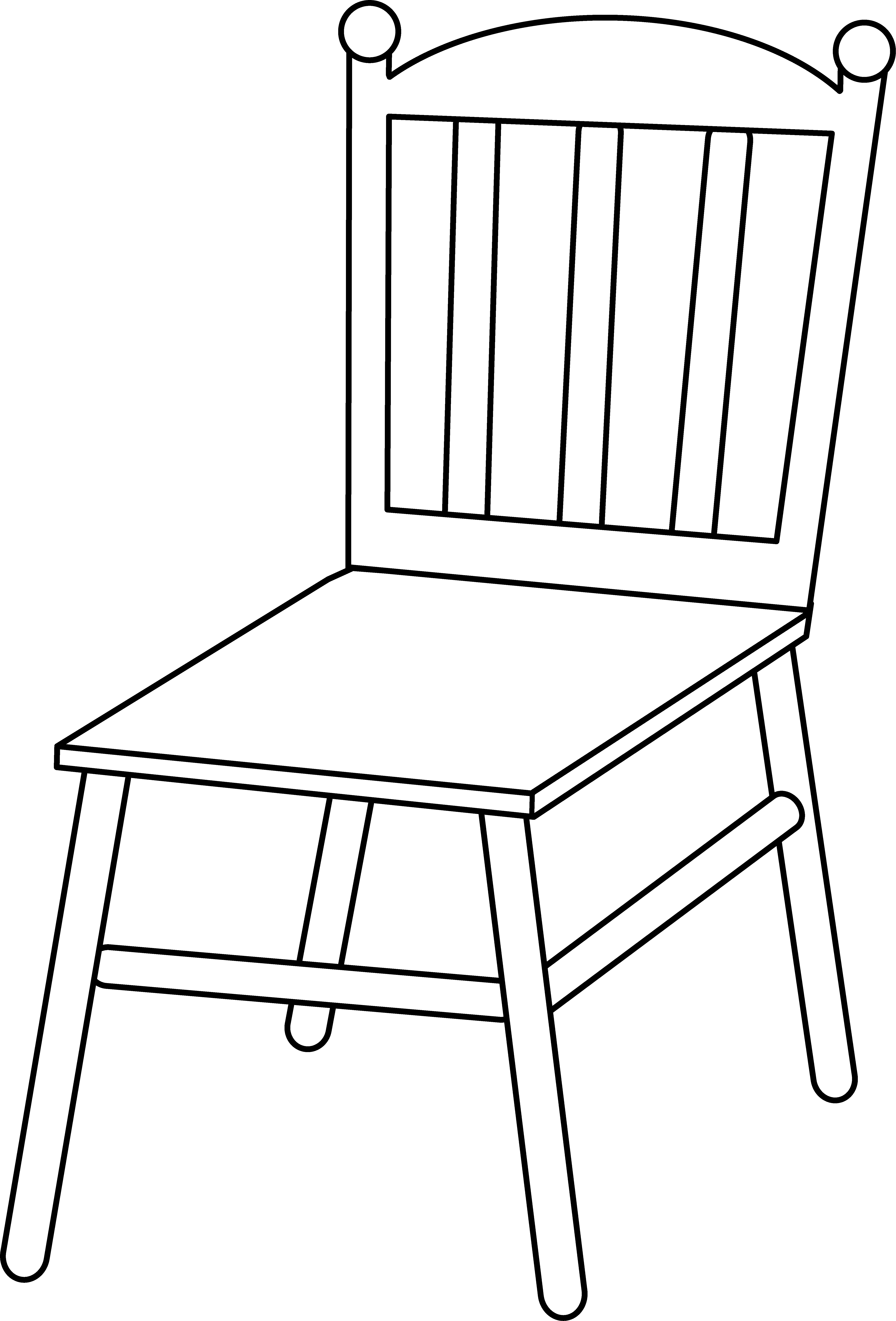 Vector chair line art. Free clip black and