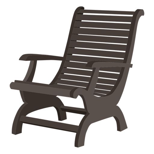 Vector chair lounge. Wooden adirondack transparent png