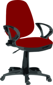 Vector chair manager. Red desk clip art