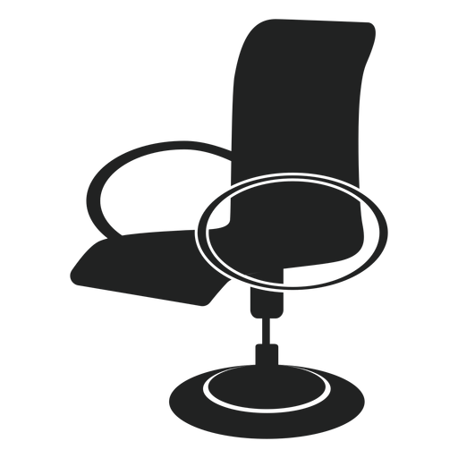 Vector chair modern. Office flat icon transparent