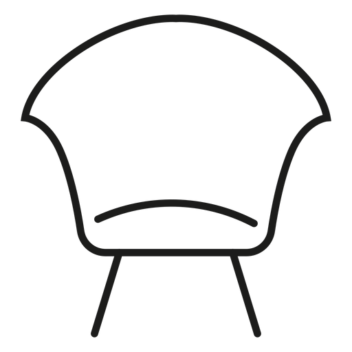 Vector chair modern. Side stroke icon transparent