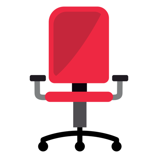 Vector chair office. Red clipart transparent png