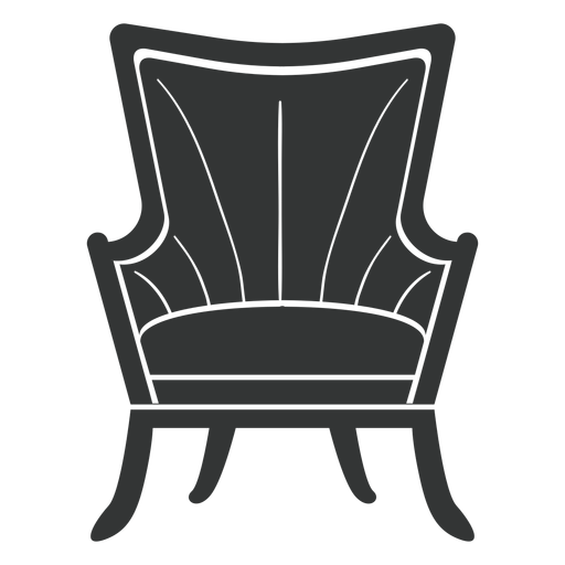 Vector chair rocking. Fanback wing flat icon