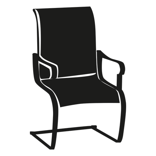 Vector chair round. Cantilever flat icon transparent