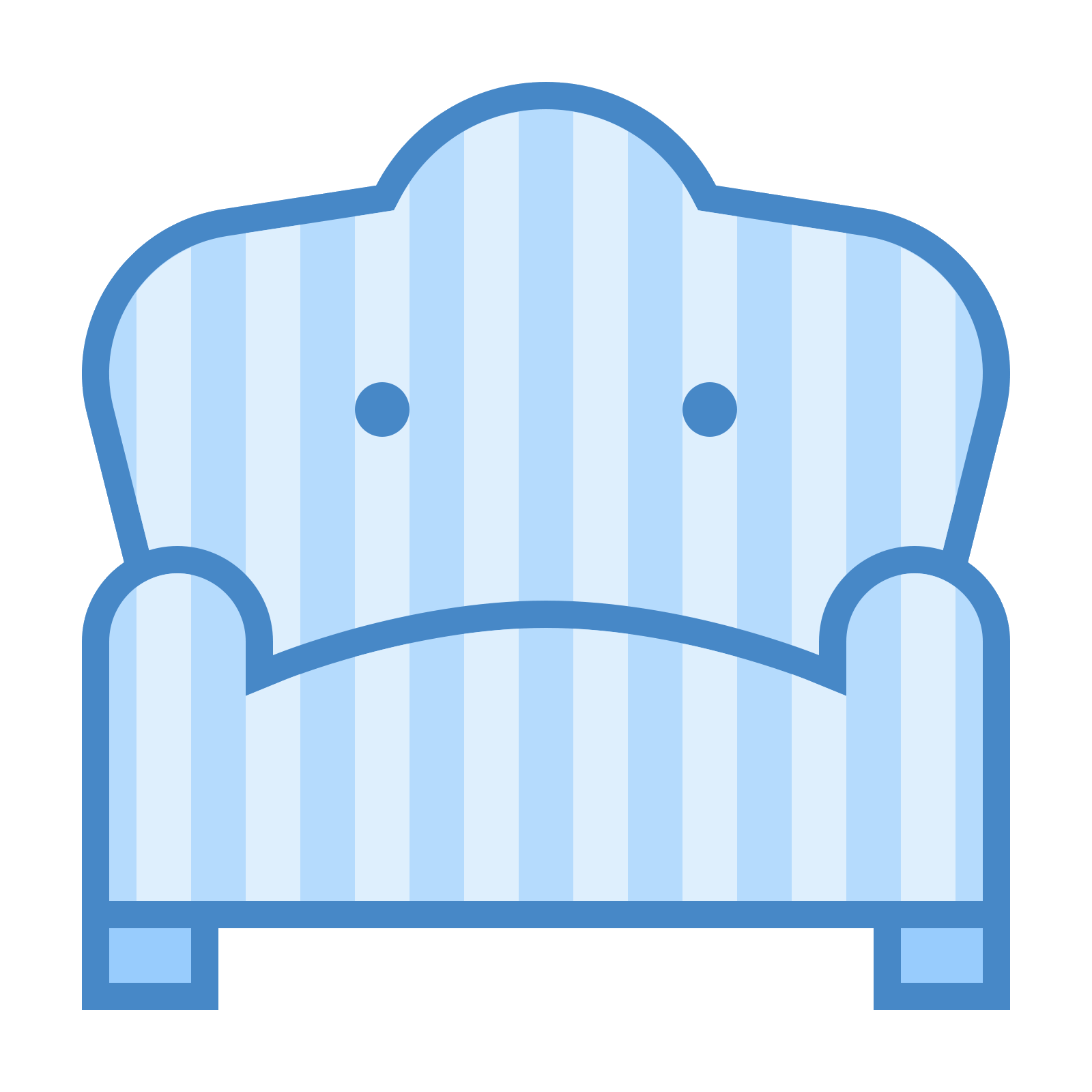 Vector chair round. Fotel icon free download