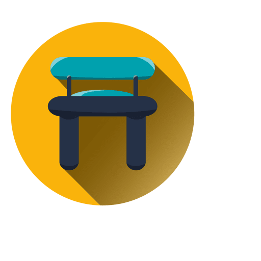 Vector chair round. Commode icon transparent png