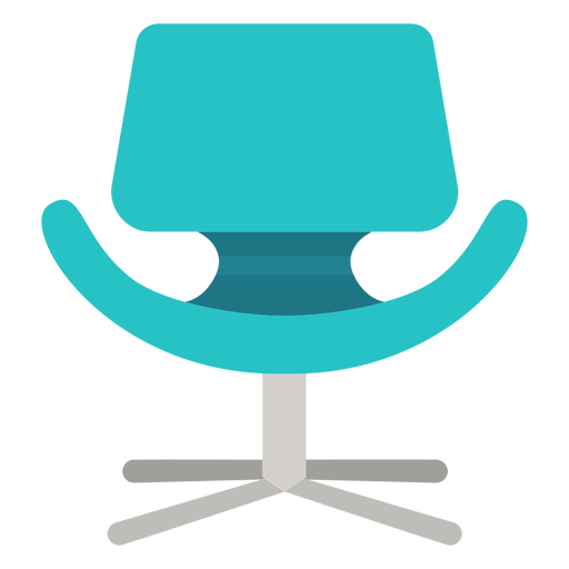 Vector chair round. Little tulip icon transparent