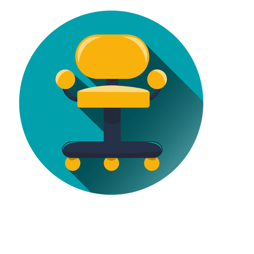 Vector chair round. Office icon transparent png