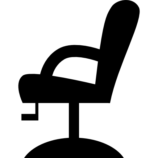 Vector furniture side view. Chair silhouette free tools