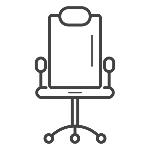 Vector chair gaming. Stroke icon transparent png