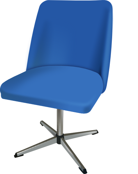 Vector chair transparent. Office furniture library