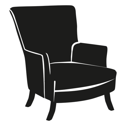 Vector chair transparent. Wingback flat icon png