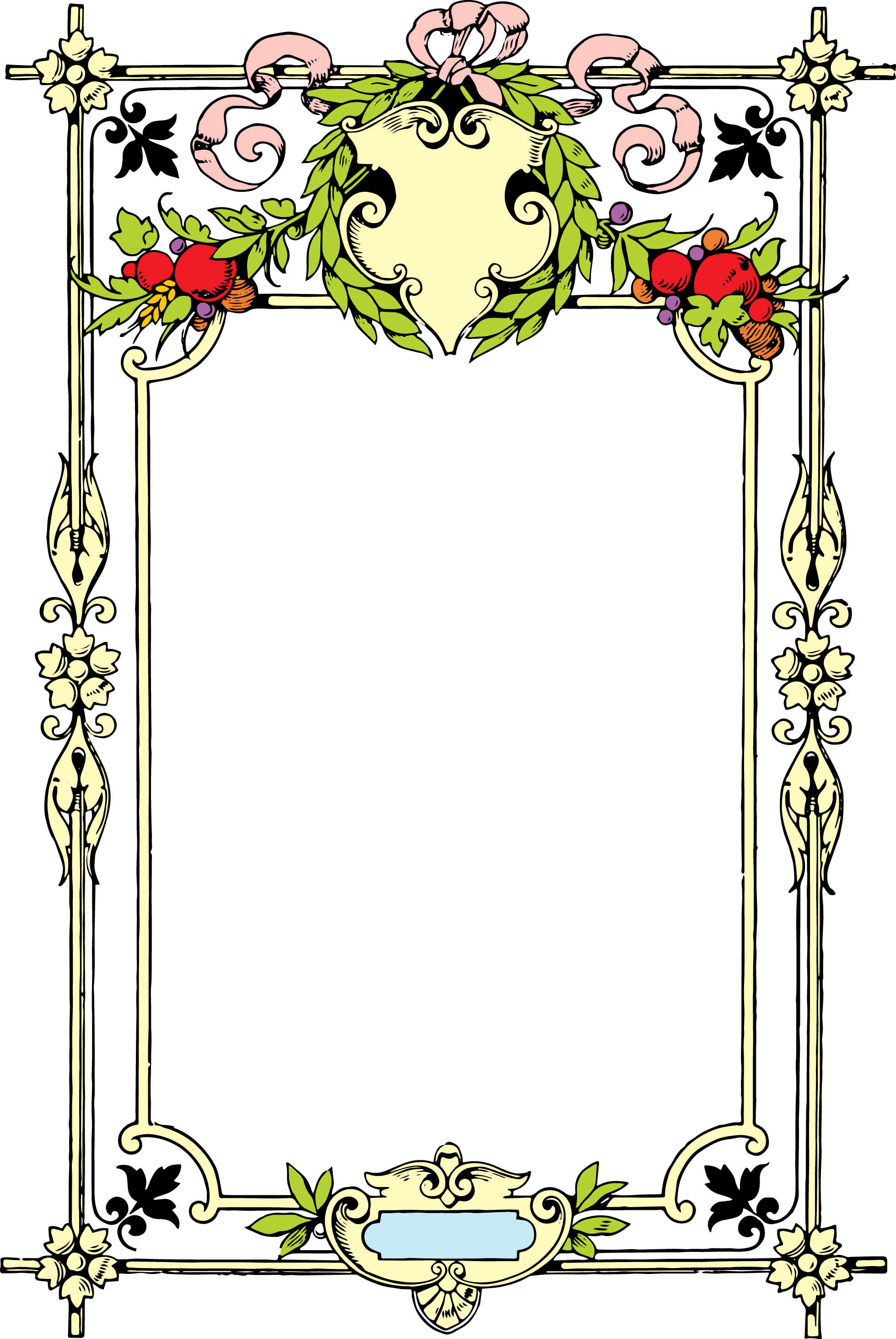 Gorgeous clip art border. Vector chalkboard decorative frame clipart royalty free library