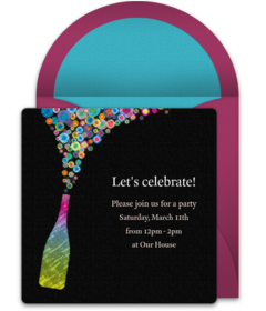 Disco vector farewell party. Free bachelorette online invitations