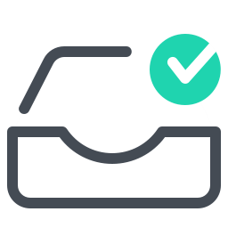Vector check tache. Completed task icon free
