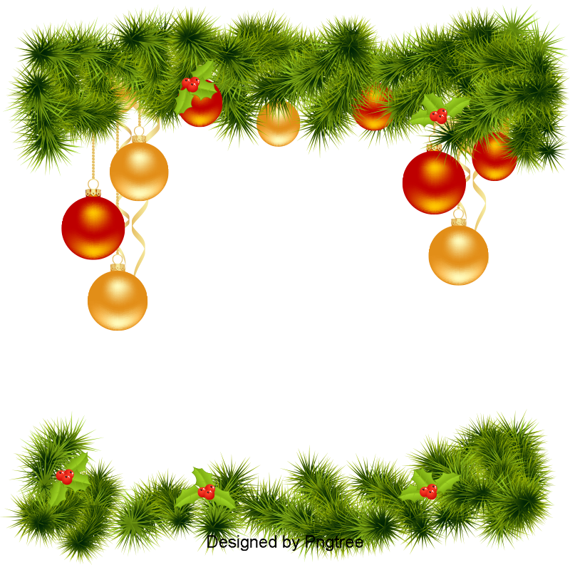 Navidad vector png. Christmas border decoracion de
