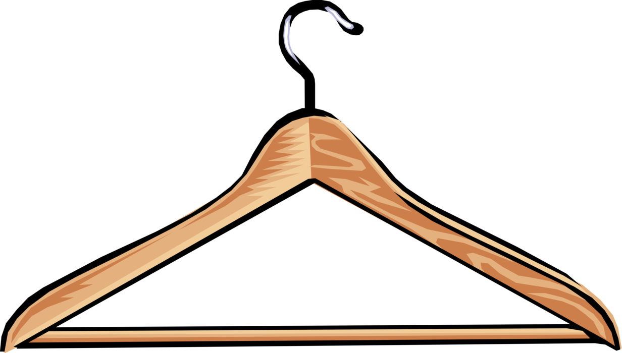 Vector clothes hanger. Image illustration of or