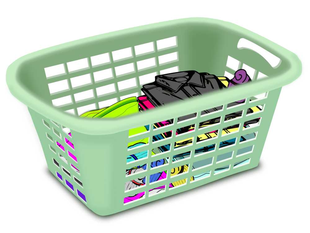 Vector clothes laundry basket. Hamper clothing washing machines