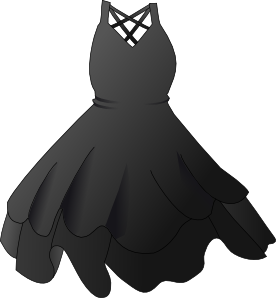 Vector clothes semi formal attire. Black dress clip art