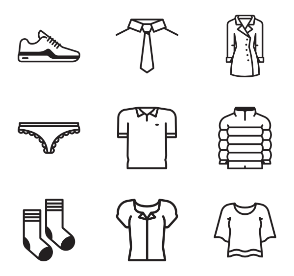 Vector clothes transparent. Underwear icons free