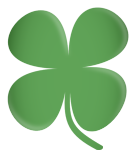 Vector clover. Four leaf clip art