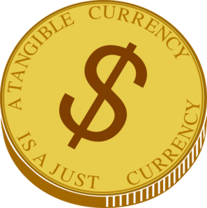 Gold coin clip at. Vector coins art freeuse download