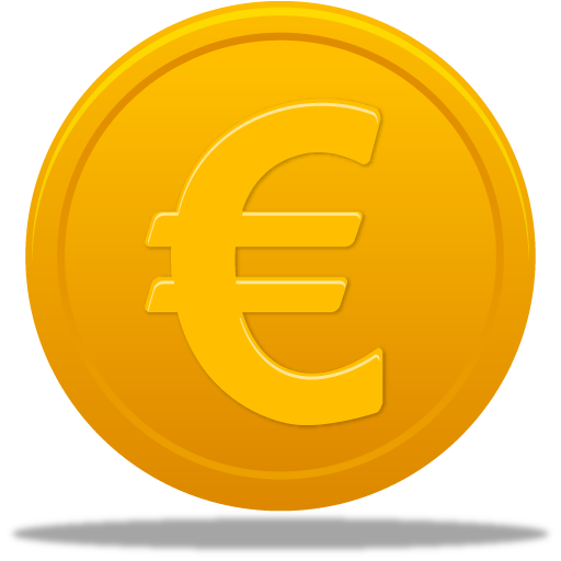 Vector coin euro. Icon pretty office icons