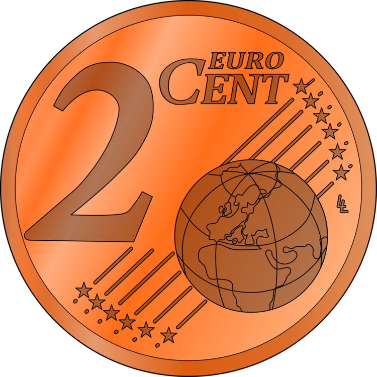 Vector coin euro. Penny cent nickel free