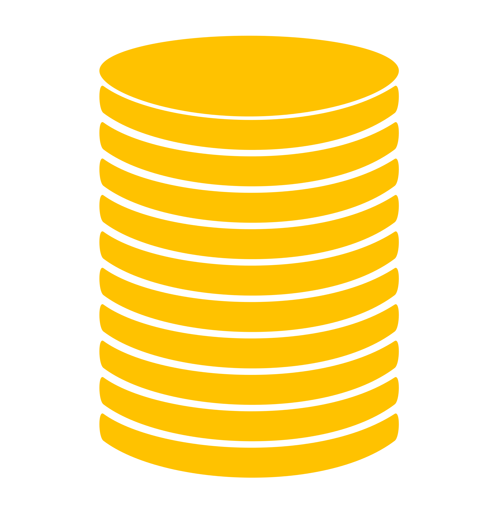 Vector coin file. Stack icon gold svg