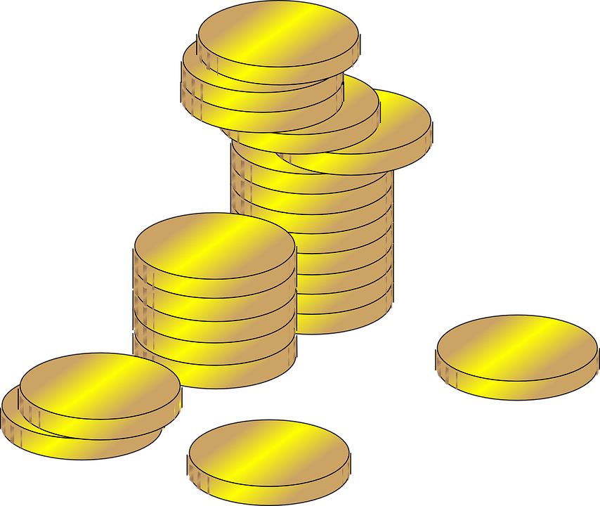 Collection of free administered. Vector coins art clip art library download