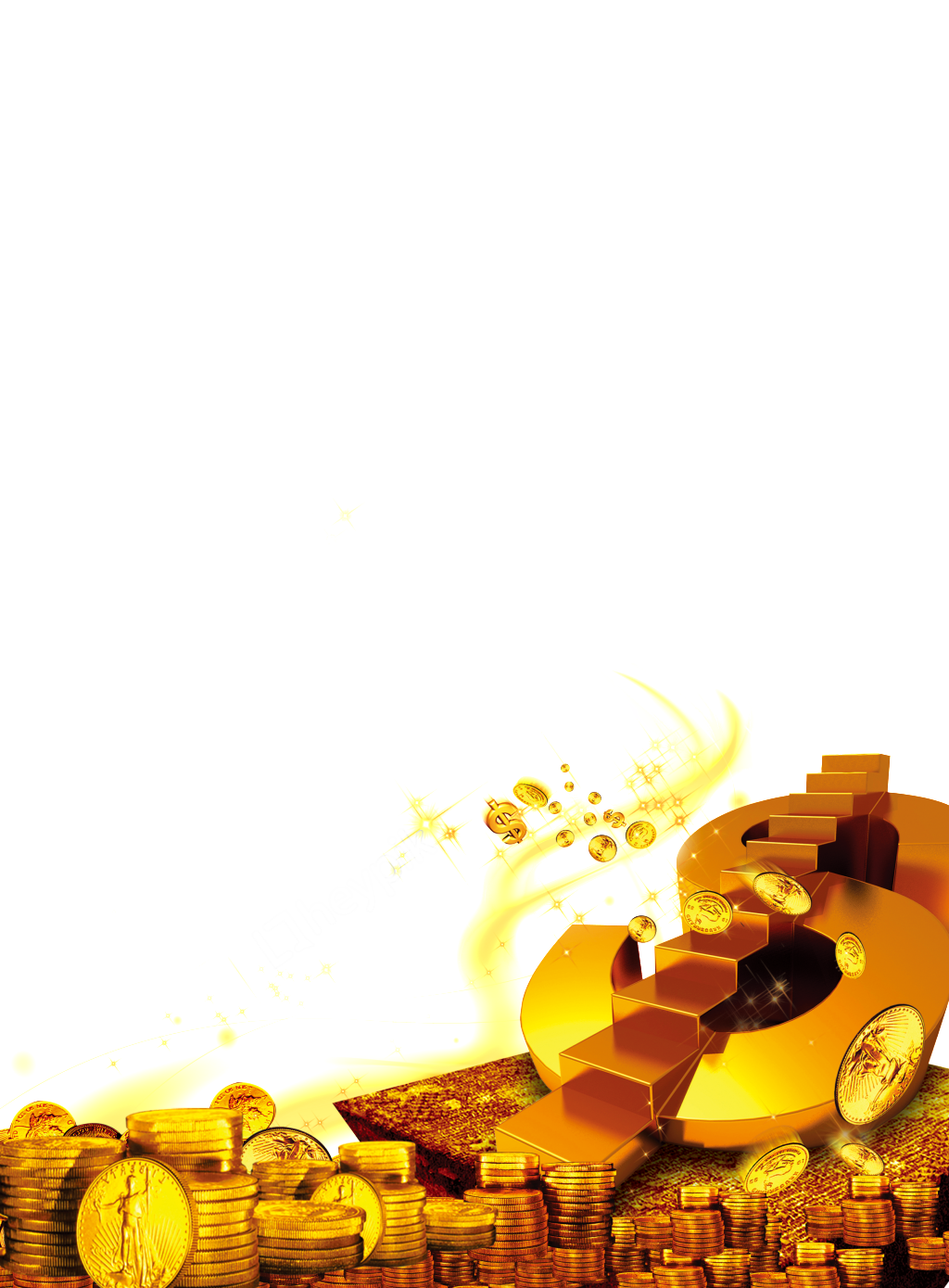 Vector coin png. Money gold element free