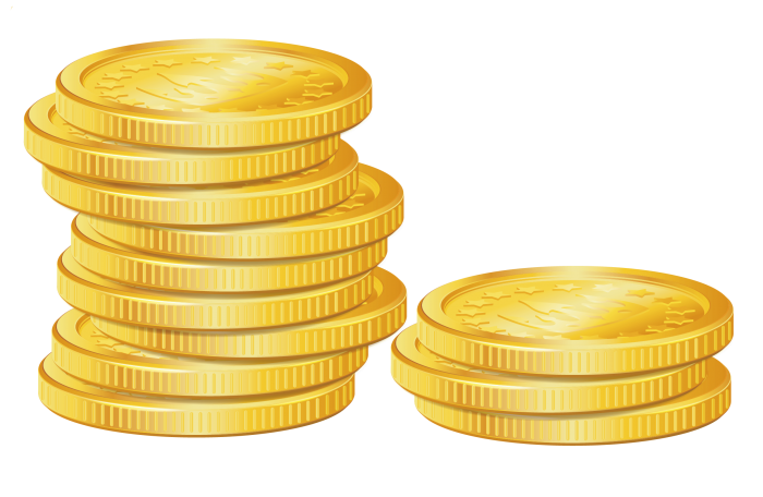 Vector coin png. Coins hd clipart psd